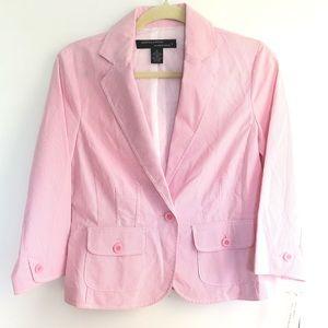 LARRY LEVINE Pink Striped short Jacket